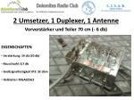 2 umsetzer 1 duplexer 1 antenne vorverst rker und teiler 70 cm 6 db