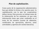 plan de capitalizaci n