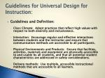 guidelines for universal design for instruction