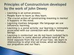 principles of constructivism developed by the work of john dewey