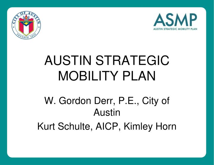 austin strategic mobility plan n.