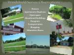 windshield survey observations