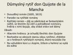 d mysln ryt don quijote de la mancha