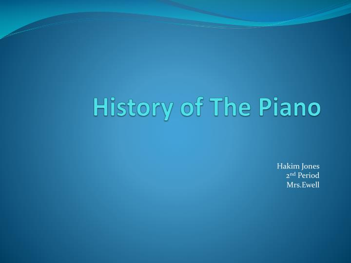 history of the piano n.