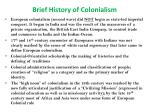 brief history of colonialism