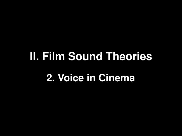 ii film sound theories n.