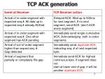 tcp ack generation