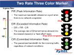 two rate three color marker
