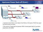 upstream power back off cont