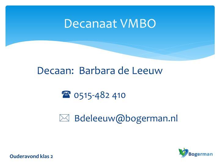 Decanaat VMBO