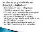 incidentie en prevalentie van duizeligheidsklachten
