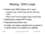 missing dao loops
