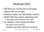 multicast dao