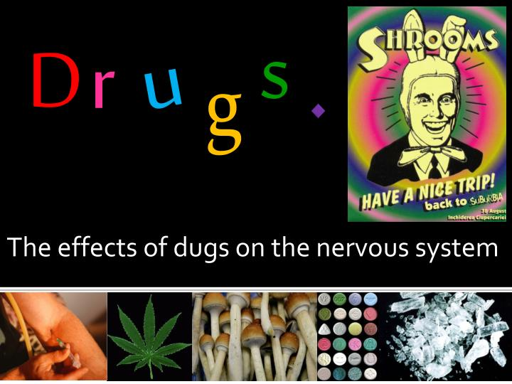 the effects of dugs on the nervous system n.