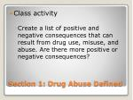 section 1 drug abuse defined