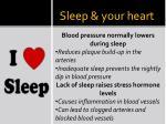 sleep your heart