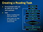 creating a reading task