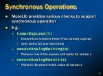 synchronous operations
