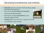 harnessing innovativeness and creativity