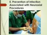 e prevention of infection associated with neuraxial procedures