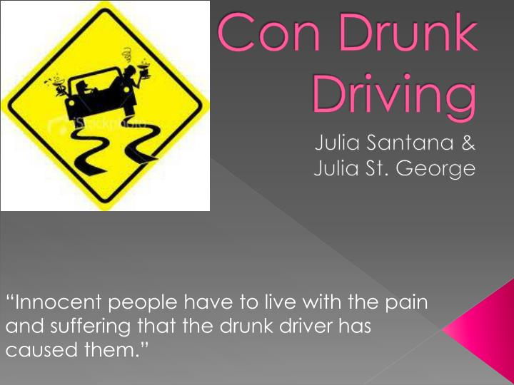 con drunk driving n.