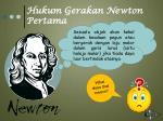 hukum gerakan newton pertama