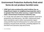 environment protection authority finds wind farms do not produce harmful noise