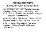 acknowledgements energizers were developed by