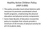 healthy active children policy hsp s 000