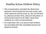 healthy active children policy