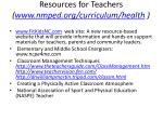 resources for teachers www nmped org curriculum health