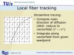 local fiber tracking