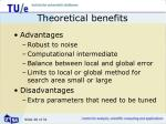 theoretical benefits