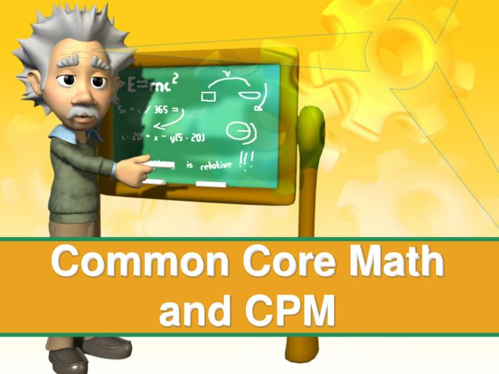 common core math and cpm n.