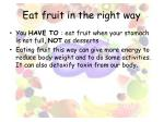 eat fruit in the right way