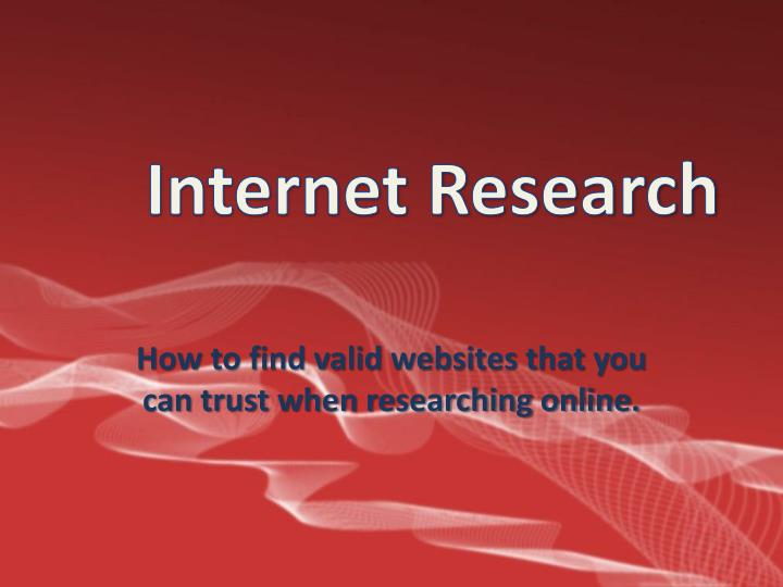 how to find valid websites that you can trust when researching online n.