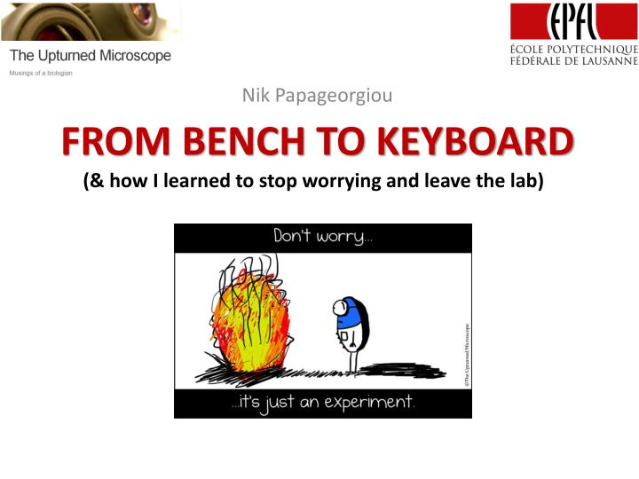 from bench to keyboard n.
