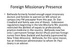foreign missionary presence