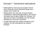 oorzaak 1 toenemend nationalisme