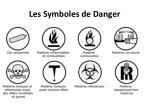 les symboles de danger
