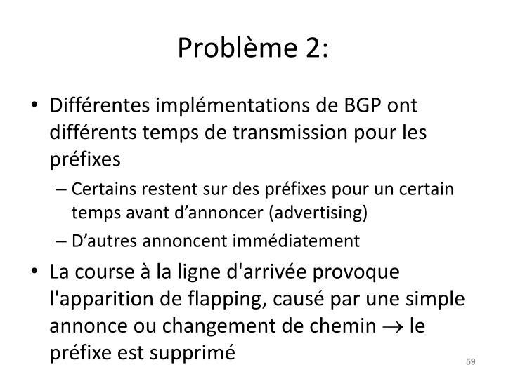 Problème 2: