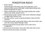 pengertian radio