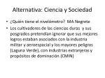 alternativa ciencia y sociedad