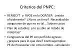criterios del pnpc