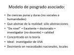 modelo de posgrado asociado