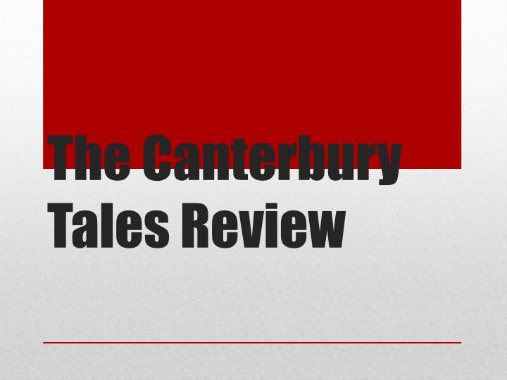 the canterbury tales review n.