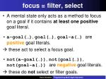 focus filter select