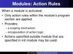 modules action rules