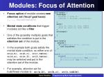 modules focus of attention