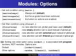 modules options